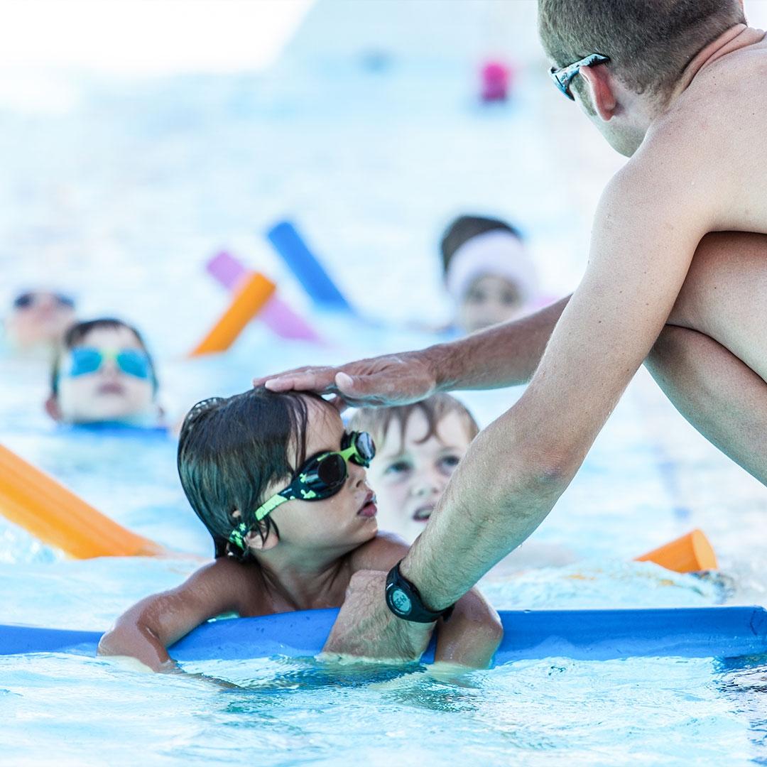Baby swimming courchevel Aquamotion swimming pool kids children activities fun bonding